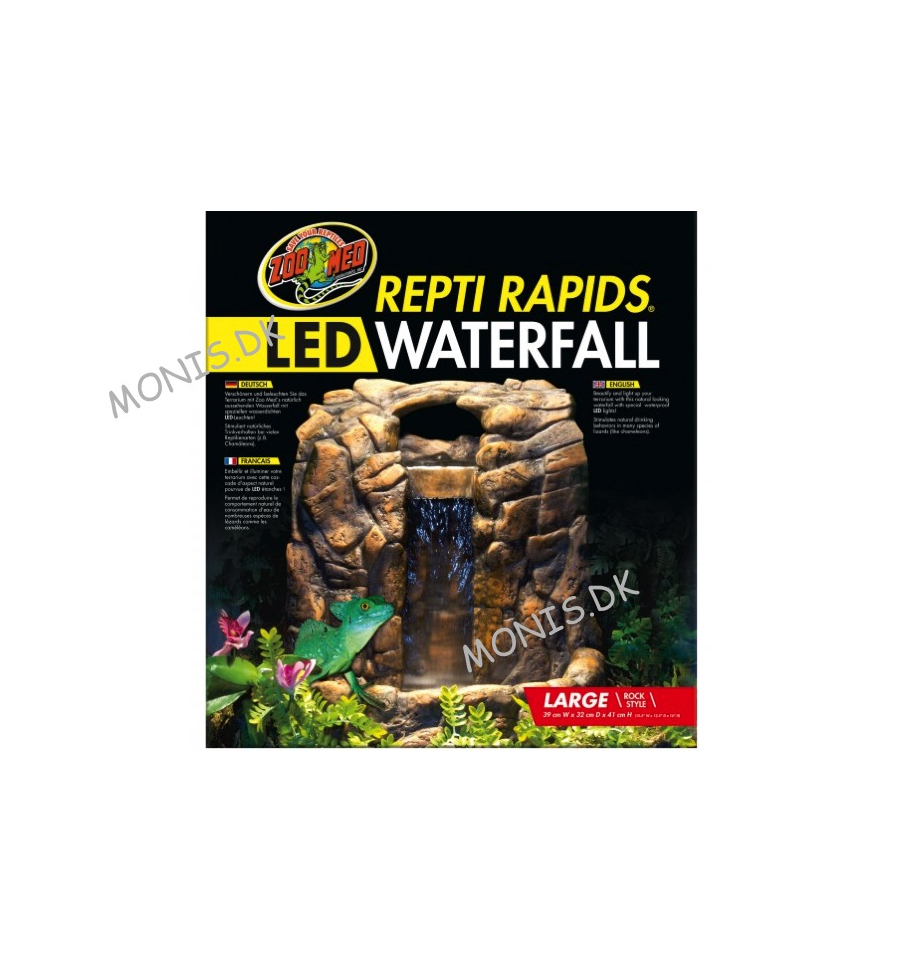 Large Led Vandfald Zoo Med Repti Rapids Led Waterfall